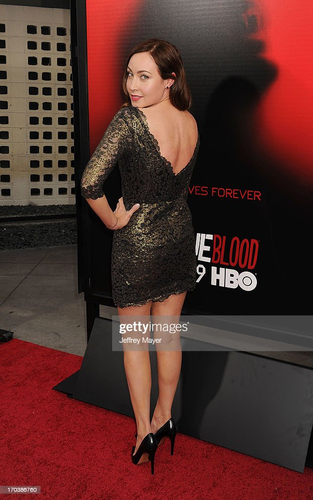 Actress <a gi-track='captionPersonalityLinkClicked' href=/galleries/search?phrase=Courtney+Ford&family=editorial&specificpeople=549187 ng-click='$event.stopPropagation()'>Courtney Ford</a> arrives at HBO's 'True Blood' season 6 premiere at ArcLight Cinemas Cinerama Dome on June 11, 2013 in Hollywood, California.