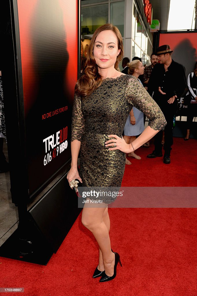 Actress Courtney Ford attends HBO's 'True Blood' season 6 premiere at ArcLight Cinemas Cinerama Dome on June 11, 2013 in Hollywood, California.