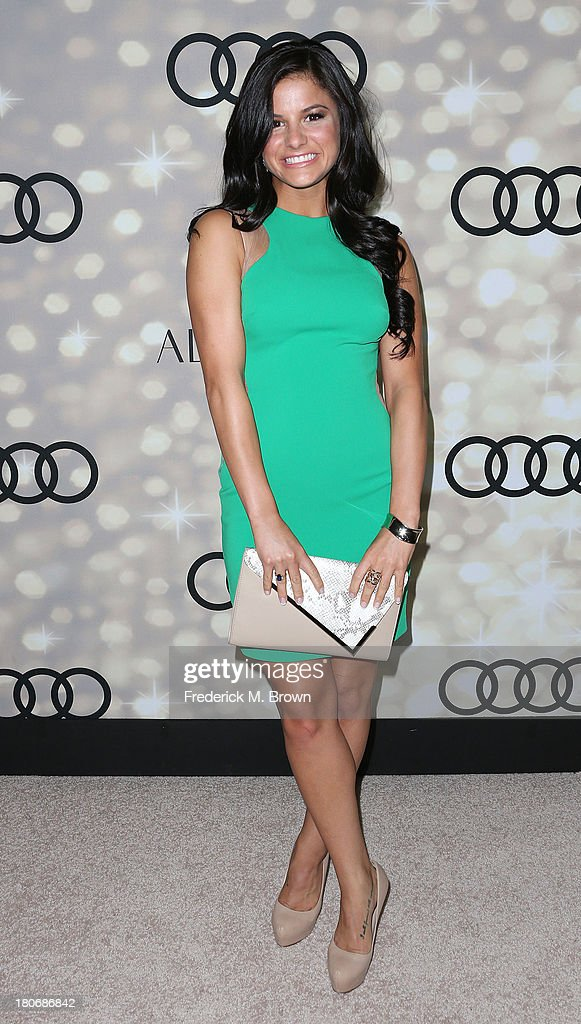 Actress <a gi-track='captionPersonalityLinkClicked' href=/galleries/search?phrase=Courtney+Galiano&family=editorial&specificpeople=5587177 ng-click='$event.stopPropagation()'>Courtney Galiano</a> attends Audi and Altuzarra's Primetime Emmy Awards Week 2013 Kick-Off Party at Cecconi's Restaurant on September 15, 2013 in Los Angeles, California.