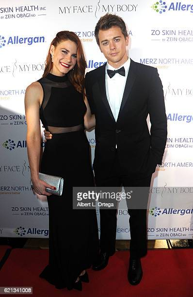 Actress Courtney Hope and actor Chad Dueii arrive for MyFaceMyBody Awards held at Montage Beverly Hills on November 5 2016 in Beverly Hills California