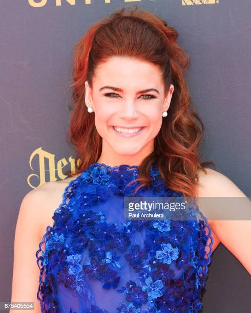 Actress Courtney Hope attends the 44th annual Daytime Emmy Awards at Pasadena Civic Auditorium on April 30 2017 in Pasadena California