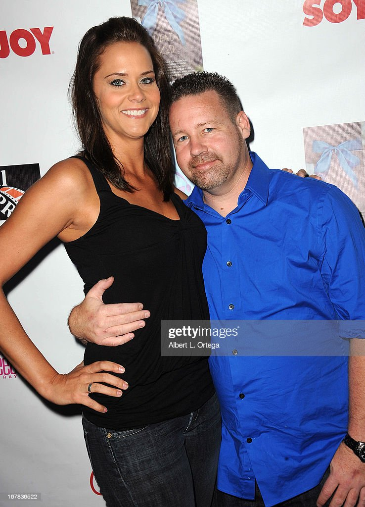 Actress Courtney Moore and actor/magician Rob Rasner arrive Screenings Of 'The Dead Kid' And 'My Life My Power' held at CAP Studios on April 30, 2013 in Sherman Oaks, California.