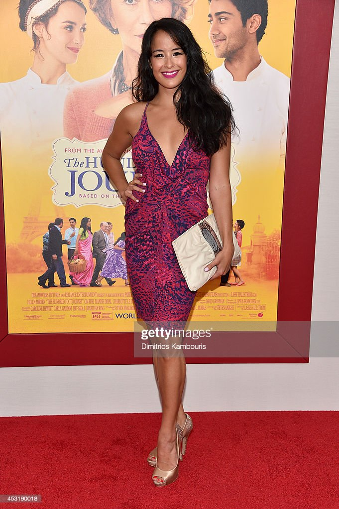 Actress Courtney Reed attends the 'The Hundred-Foot Journey' New York premiere at Ziegfeld Theater on August 4, 2014 in New York City.