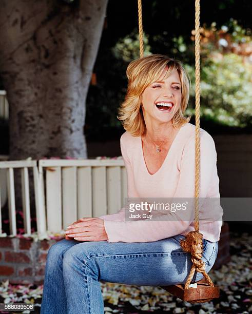 Actress Courtney ThorneSmith is photographed for InStyle in 2002 at home in Los Angeles California