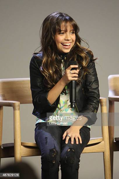 Actress Cree Cicchino speaks at the event Meet the Cast 'Nickelodeon's Game Shakers' at Apple Store Soho on September 10 2015 in New York City