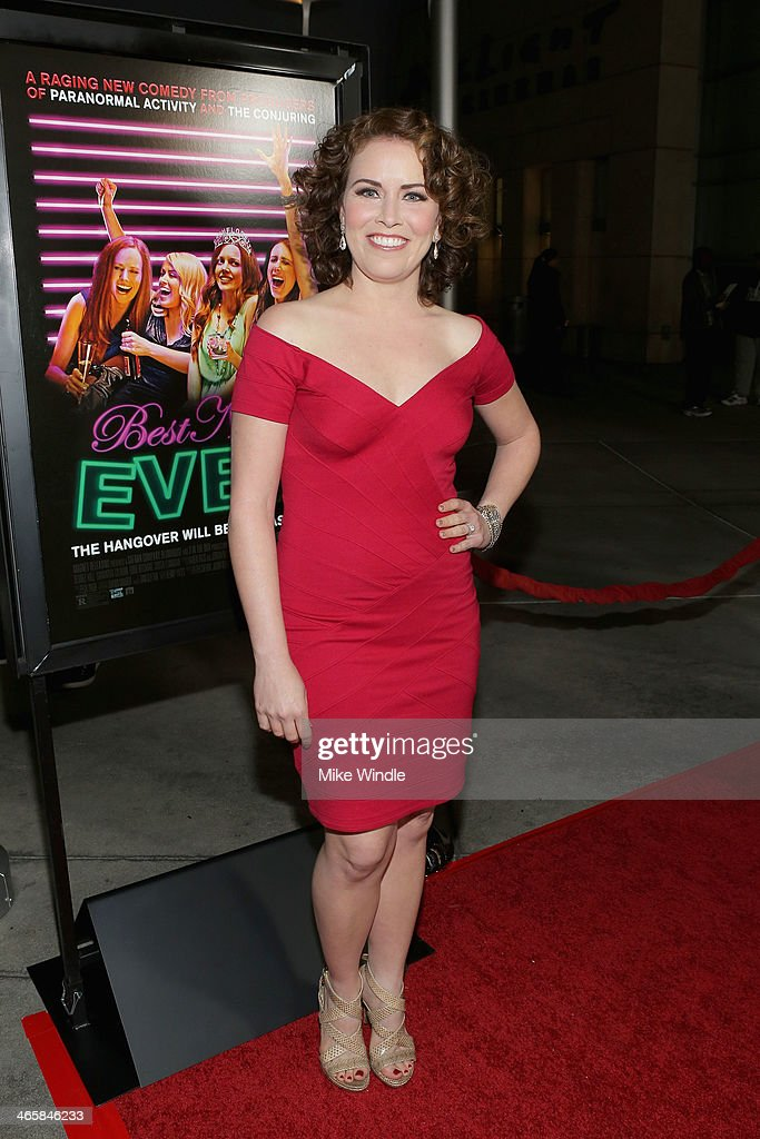 Actress <a gi-track='captionPersonalityLinkClicked' href=/galleries/search?phrase=Crista+Flanagan&family=editorial&specificpeople=737112 ng-click='$event.stopPropagation()'>Crista Flanagan</a> arrives at the premiere of Magnet's 'Best Night Ever' at ArcLight Cinemas on January 29, 2014 in Hollywood, California.
