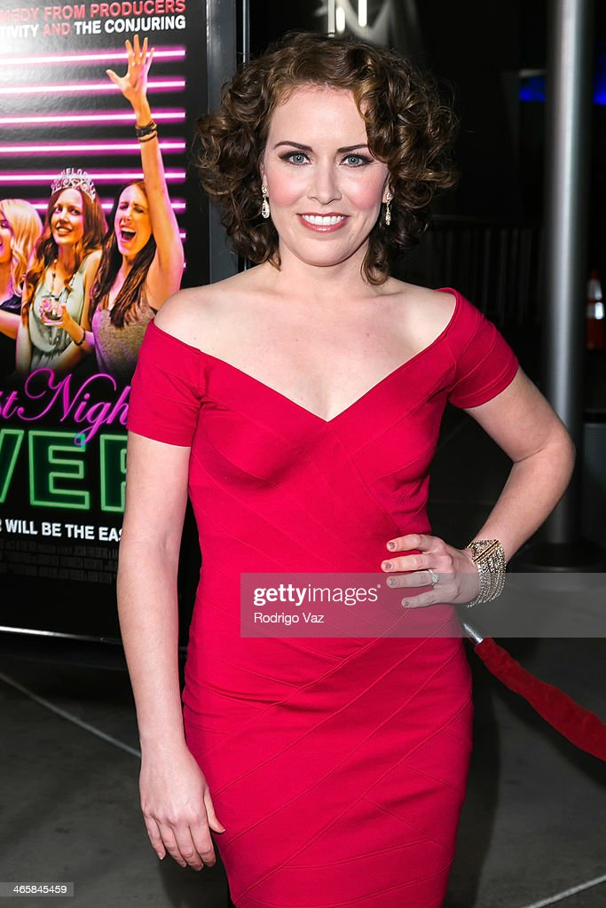Actress <a gi-track='captionPersonalityLinkClicked' href=/galleries/search?phrase=Crista+Flanagan&family=editorial&specificpeople=737112 ng-click='$event.stopPropagation()'>Crista Flanagan</a> attends the 'Best Night Ever' Los Angeles premiere at ArcLight Cinemas on January 29, 2014 in Hollywood, California.