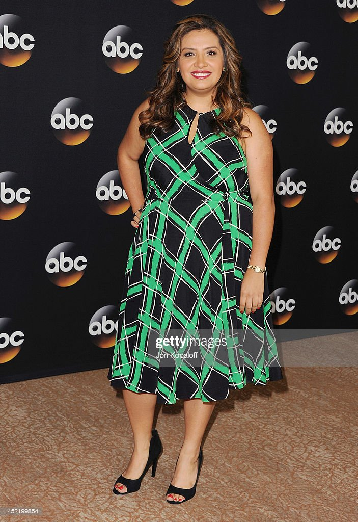 Actress <a gi-track='captionPersonalityLinkClicked' href=/galleries/search?phrase=Cristela+Alonzo&family=editorial&specificpeople=4034914 ng-click='$event.stopPropagation()'>Cristela Alonzo</a> arrives the Disney|ABC Television Group 2014 Television Critics Association Summer Press Tour at The Beverly Hilton Hotel on July 15, 2014 in Beverly Hills, California.
