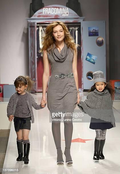 Actress Cristiana Capotondi walks the runway of the Fracomina Mini fashion show as part of Pitti Immagine Bimbo 74 on January 20 2012 in Florence...