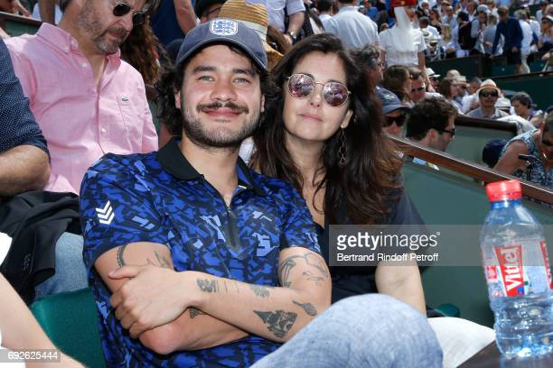 Actress Cristiana Reali and guest attend the 2017 French Tennis Open Day Height at Roland Garros on June 4 2017 in Paris France
