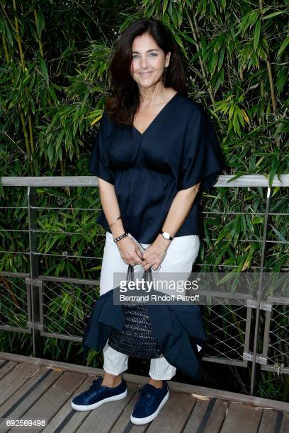 Actress Cristiana Reali attends the 2017 French Tennis Open Day Height at Roland Garros on June 4 2017 in Paris France