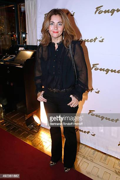 Actress Cristiana Reali attends the Fouquet's Paris Restaurant presents its Menu 'Twisted' by the Chef Pierre Gagnaire Held at Le Fouquet's on...