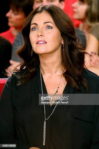 Actress Cristiana Reali attends the 'Vivement Dimanche' French TV Show at Pavillon Gabriel on September 24 2014 in Paris France