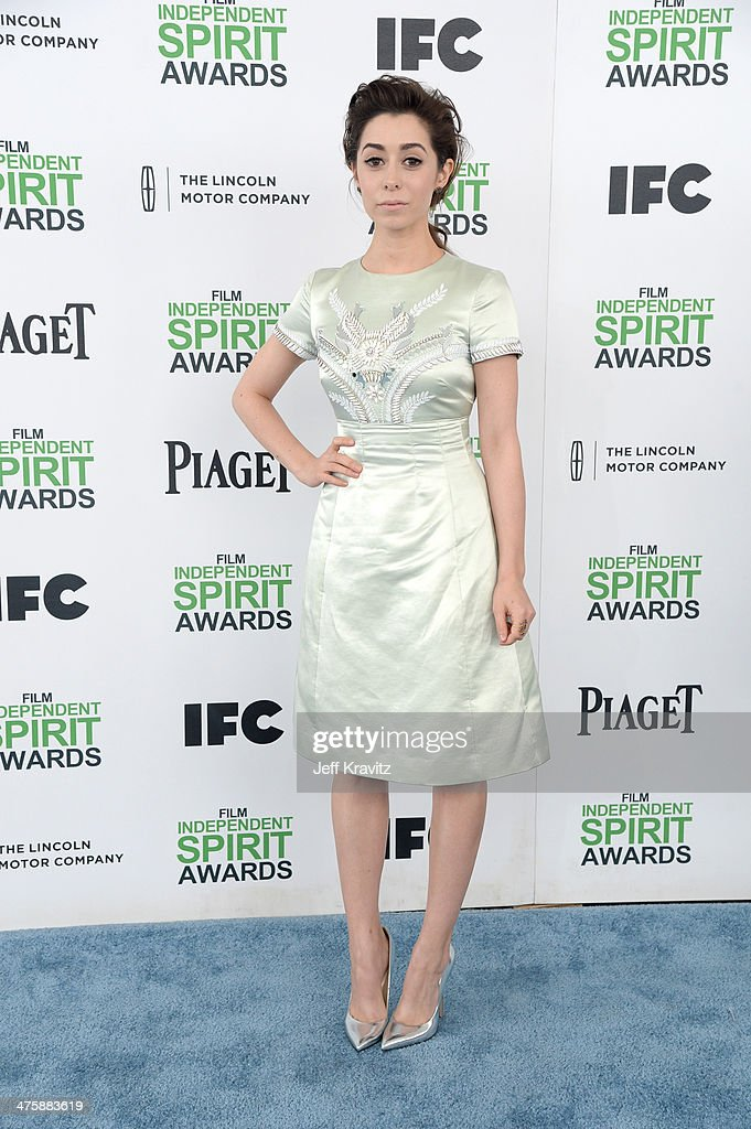 Actress Cristin Milioti attends the 2014 Film Independent Spirit Awards on March 1, 2014 in Santa Monica, California.