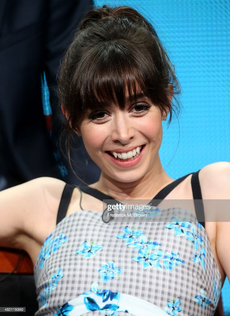 Actress <a gi-track='captionPersonalityLinkClicked' href=/galleries/search?phrase=Cristin+Milioti&family=editorial&specificpeople=6895787 ng-click='$event.stopPropagation()'>Cristin Milioti</a> speaks onstage at the 'A To Z' panel during the NBCUniversal portion of the 2014 Summer Television Critics Association at The Beverly Hilton Hotel on July 13, 2014 in Beverly Hills, California.