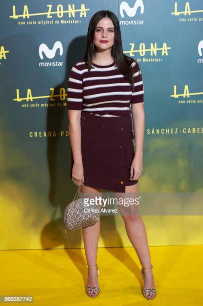 Actress Cristina Abad attends 'La Zona' premiere at the Capitol cinema on October 25 2017 in Madrid Spain