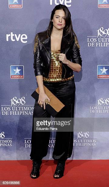 Actress Cristina Abad attends the '1898 los ultimos de Filipinas' premiere at Kinepolis cinema on November 29 2016 in Madrid Spain