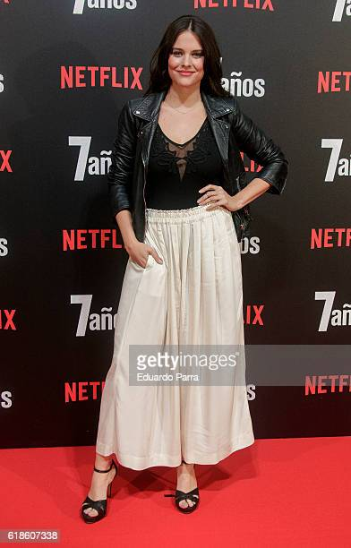 Actress Cristina Abad attends the '7 anos' photocall at Capitol cinema on October 27 2016 in Madrid Spain