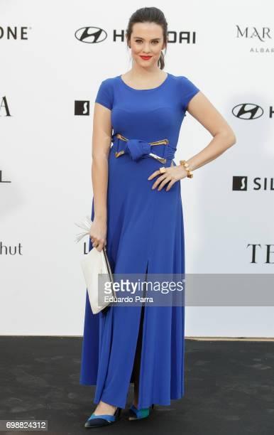 Actress Cristina Abad attends the 'La Moda en la calle by Telva' event at Las Ventas bullring on June 20 2017 in Madrid Spain