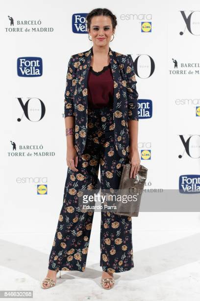 Actress Cristina Abad attends the 'Yo Dona MBFW opening party' photocall at Barcelo hotel on September 13 2017 in Madrid Spain
