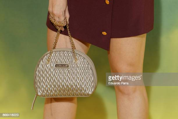 Actress Cristina Abad handbag detail attends the 'La Zona' premiere at Capitol cinema on October 25 2017 in Madrid Spain
