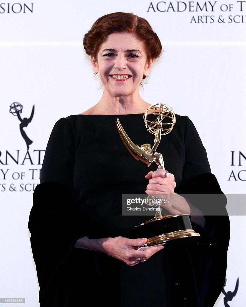 Actress Cristina Banegas attends the 40th International Emmy Awards at Mercury Ballroom at the New York Hilton on November 19, 2012 in New York City.
