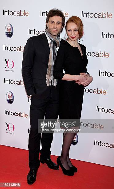 Actress Cristina Castano and boyfriend attend 'Intouchables' premiere at Palafox cinema on February 16 2012 in Madrid Spain
