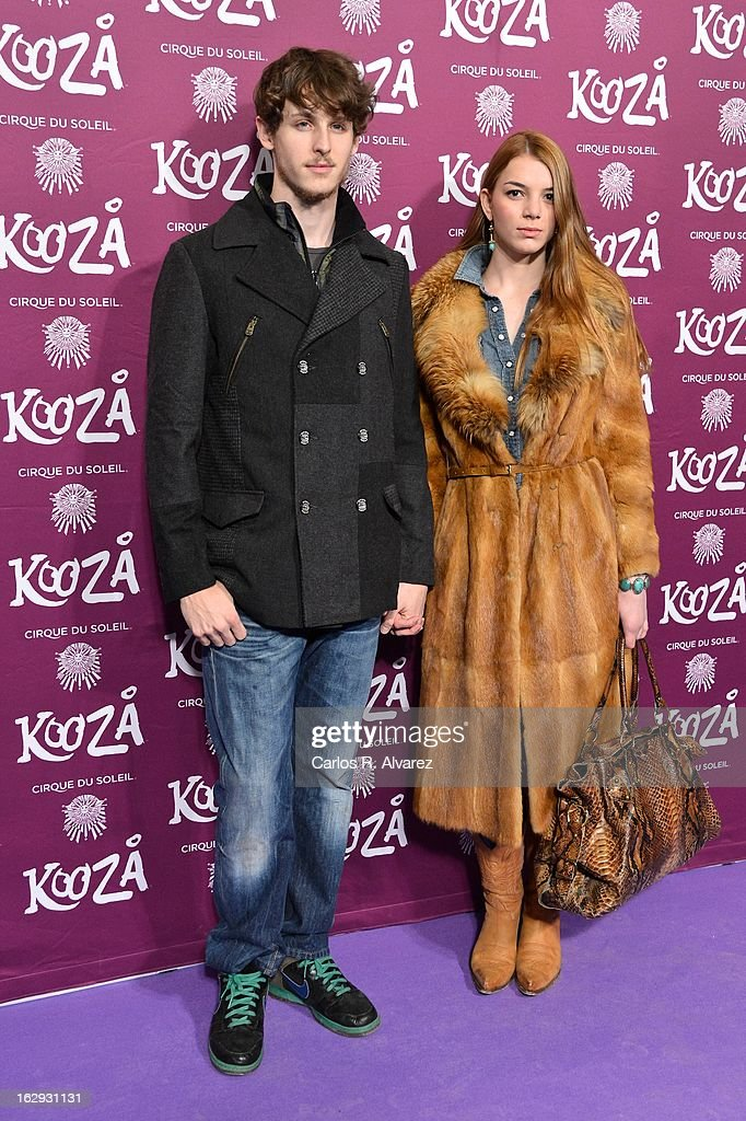 Actress Cristina Duato and actor Nicolas Coronado attend 'Cirque Du Soleil' Kooza 2013 premiere on March 1, 2013 in Madrid, Spain.