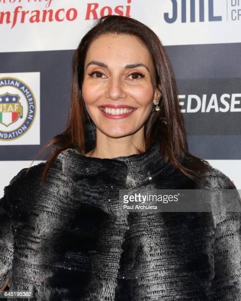 Actress Cristina Serafini attends the 12th edition of The Los Angeles Italia Film Fashion and Art Fest closing nite at TCL Chinese 6 Theatres on...