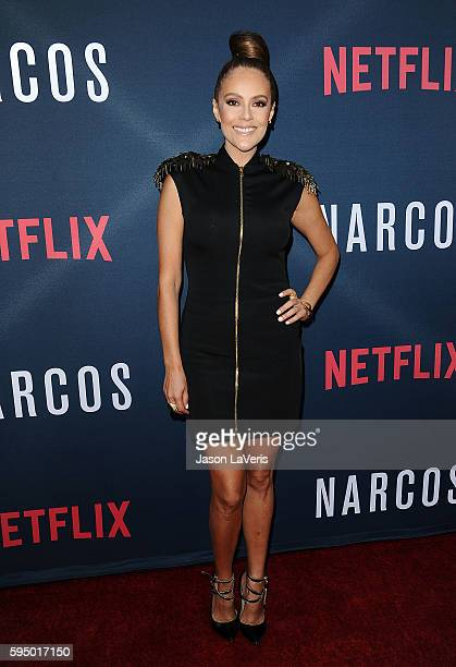 Actress Cristina Umana attends the season 2 premiere of 'Narcos' at ArcLight Cinemas on August 24 2016 in Hollywood California