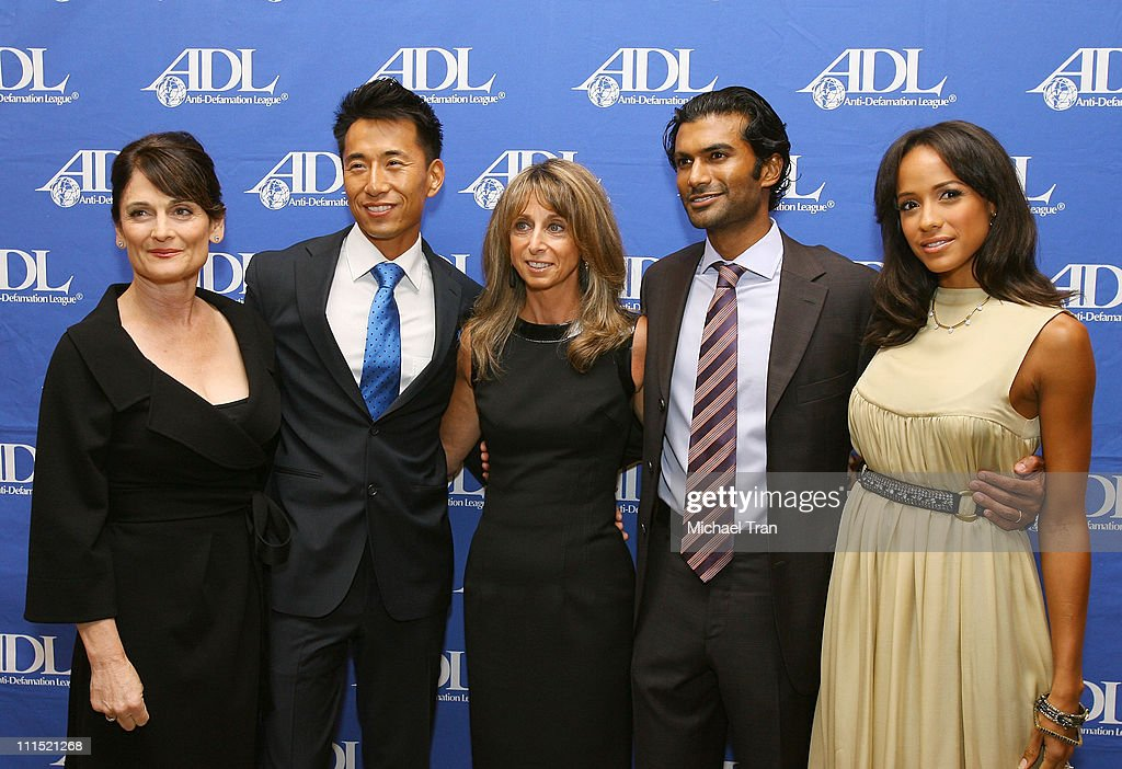 Actress Cristine Rose Actor James Kyson Lee President of NBCU Cable Entertainment and Cable Studios Bonnie Hammer Actor Sendhil Ramamurthy and...