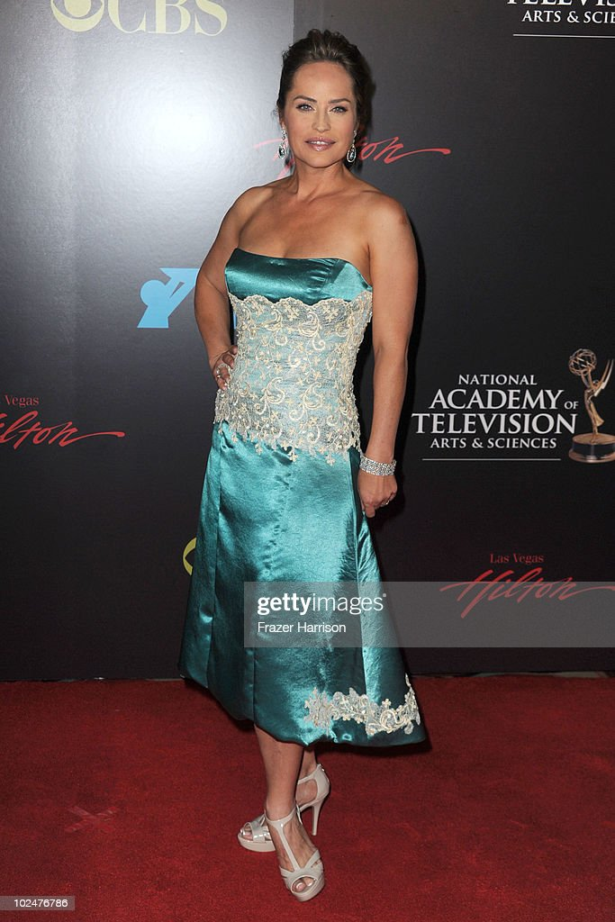 Actress <a gi-track='captionPersonalityLinkClicked' href=/galleries/search?phrase=Crystal+Chappell&family=editorial&specificpeople=663652 ng-click='$event.stopPropagation()'>Crystal Chappell</a> arrives at the 37th Annual Daytime Entertainment Emmy Awards held at the Las Vegas Hilton on June 27, 2010 in Las Vegas, Nevada.