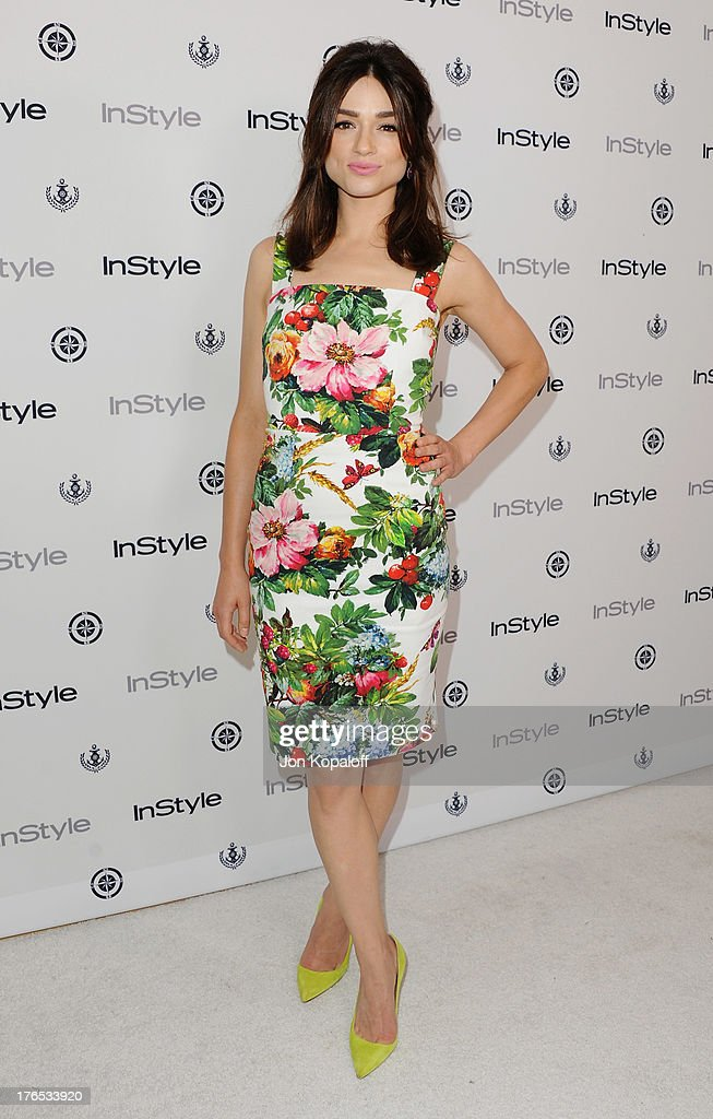 Actress <a gi-track='captionPersonalityLinkClicked' href=/galleries/search?phrase=Crystal+Reed&family=editorial&specificpeople=7115314 ng-click='$event.stopPropagation()'>Crystal Reed</a> arrives at the 13th Annual InStyle Summer Soiree at Mondrian Los Angeles on August 14, 2013 in West Hollywood, California.