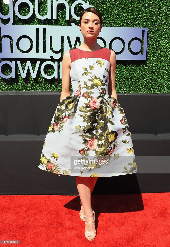 Actress Crystal Reed arrives at the 15th Annual Young Hollywood Awards at The Broad Stage on August 1, 2013 in Santa Monica, California.