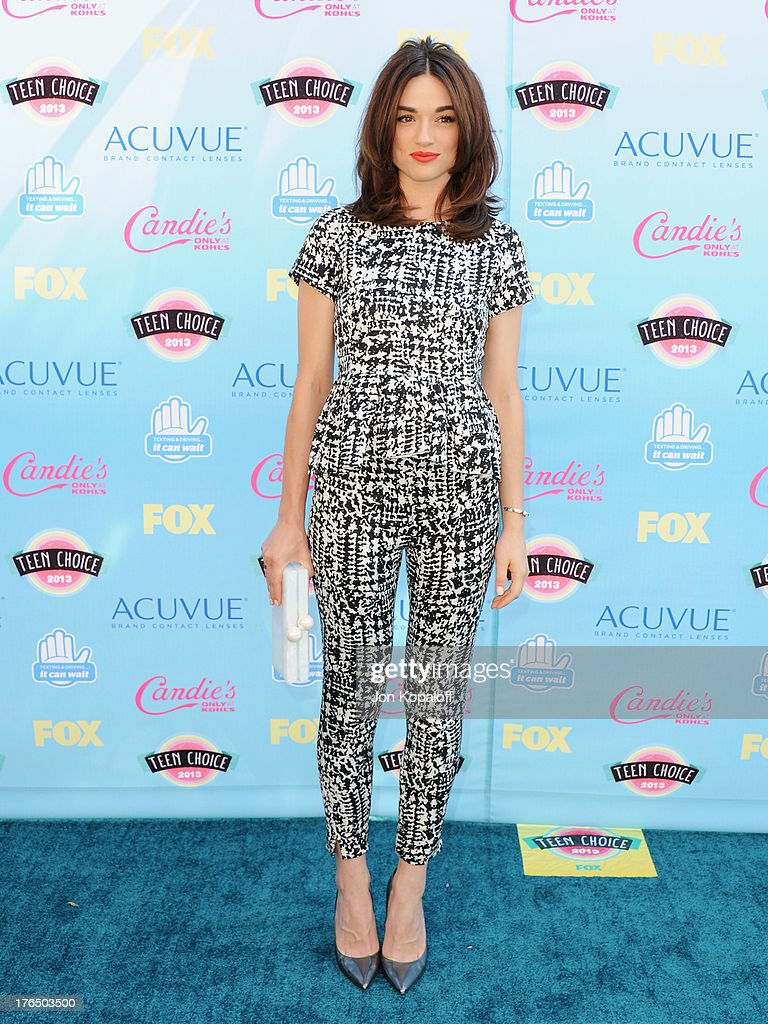 Actress Crystal Reed arrives at the 2013 Teen Choice Awards at Gibson Amphitheatre on August 11, 2013 in Universal City, California.