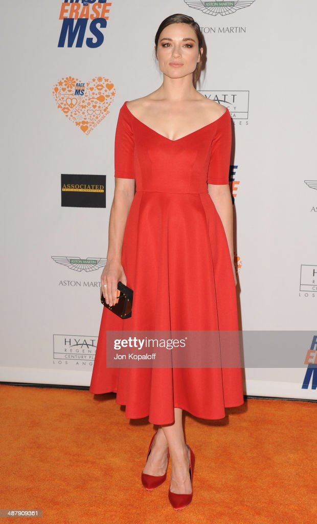 Actress Crystal Reed arrives at the 21st Annual Race To Erase MS Gala at the Hyatt Regency Century Plaza on May 2, 2014 in Century City, California.