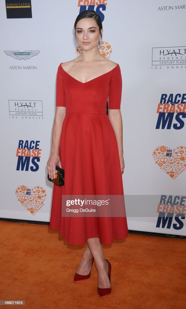 Actress <a gi-track='captionPersonalityLinkClicked' href=/galleries/search?phrase=Crystal+Reed&family=editorial&specificpeople=7115314 ng-click='$event.stopPropagation()'>Crystal Reed</a> arrives at the 21st Annual Race To Erase MS Gala at the Hyatt Regency Century Plaza on May 2, 2014 in Century City, California.