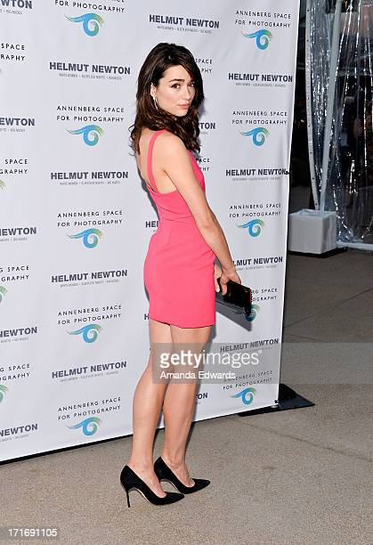 Actress Crystal Reed arrives at The Annenberg Space For Photography exhibit opening for 'Helmut Newton White Women Sleepless Nights Big Nudes' at The...