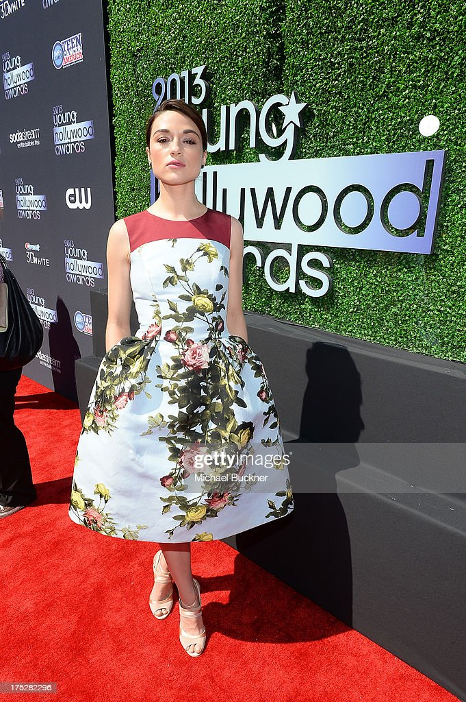 Actress Crystal Reed attends CW Network's 2013 2013 Young Hollywood Awards presented by Crest 3D White and SodaStream held at The Broad Stage on August 1, 2013 in Santa Monica, California.