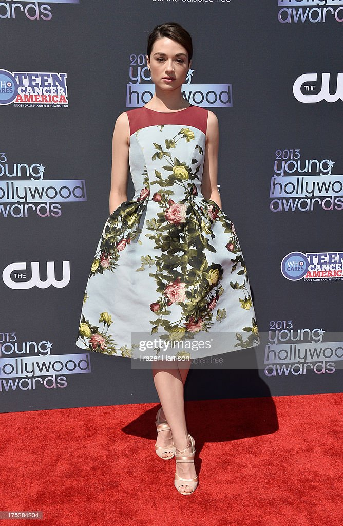 Actress Crystal Reed attends CW Network's 2013 Young Hollywood Awards presented by Crest 3D White and SodaStream held at The Broad Stage on August 1, 2013 in Santa Monica, California.