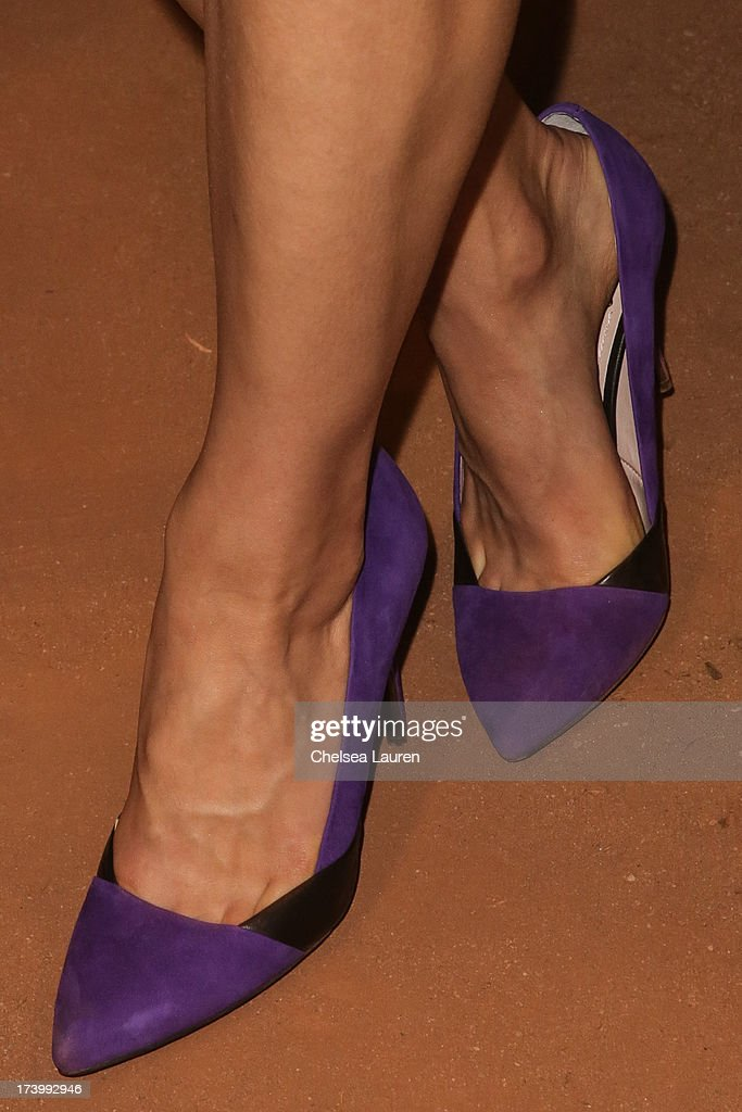 Actress Crystal Reed (shoe detail) attends MTV2 Party in The Park at Comic-con International 2013 at PETCO Park on July 18, 2013 in San Diego, California.