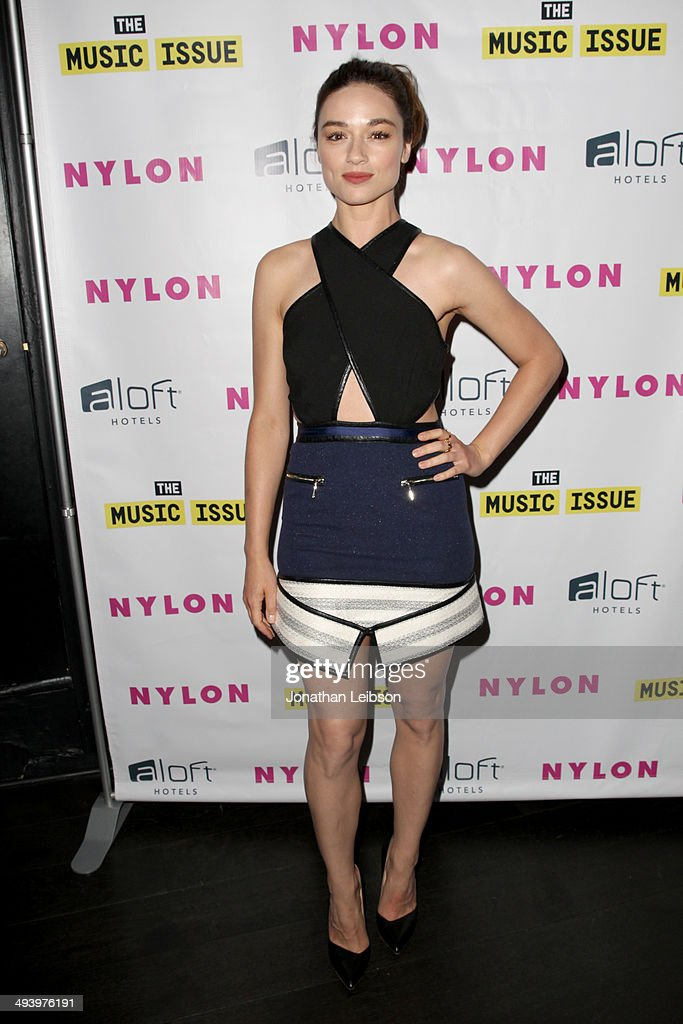 Actress <a gi-track='captionPersonalityLinkClicked' href=/galleries/search?phrase=Crystal+Reed&family=editorial&specificpeople=7115314 ng-click='$event.stopPropagation()'>Crystal Reed</a> attends NYLON x Aloft Hotels celebrate The Music Issue with cover star HAIM on May 26, 2014 in Los Angeles, California.