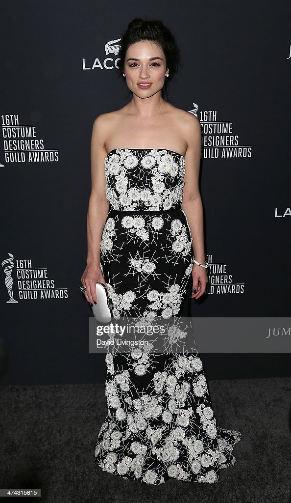Actress Crystal Reed attends the 16th Costume Designers Guild Awards with presenting sponsor Lacoste at The Beverly Hilton Hotel on February 22, 2014 in Beverly Hills, California.