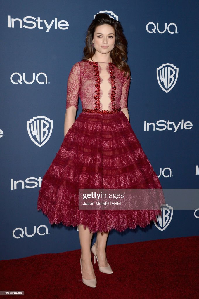 Actress <a gi-track='captionPersonalityLinkClicked' href=/galleries/search?phrase=Crystal+Reed&family=editorial&specificpeople=7115314 ng-click='$event.stopPropagation()'>Crystal Reed</a> attends the 2014 InStyle and Warner Bros. 71st Annual Golden Globe Awards Post-Party on January 12, 2014 in Beverly Hills, California.
