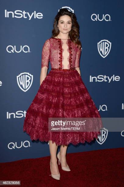 Actress Crystal Reed attends the 2014 InStyle and Warner Bros 71st Annual Golden Globe Awards PostParty on January 12 2014 in Beverly Hills California