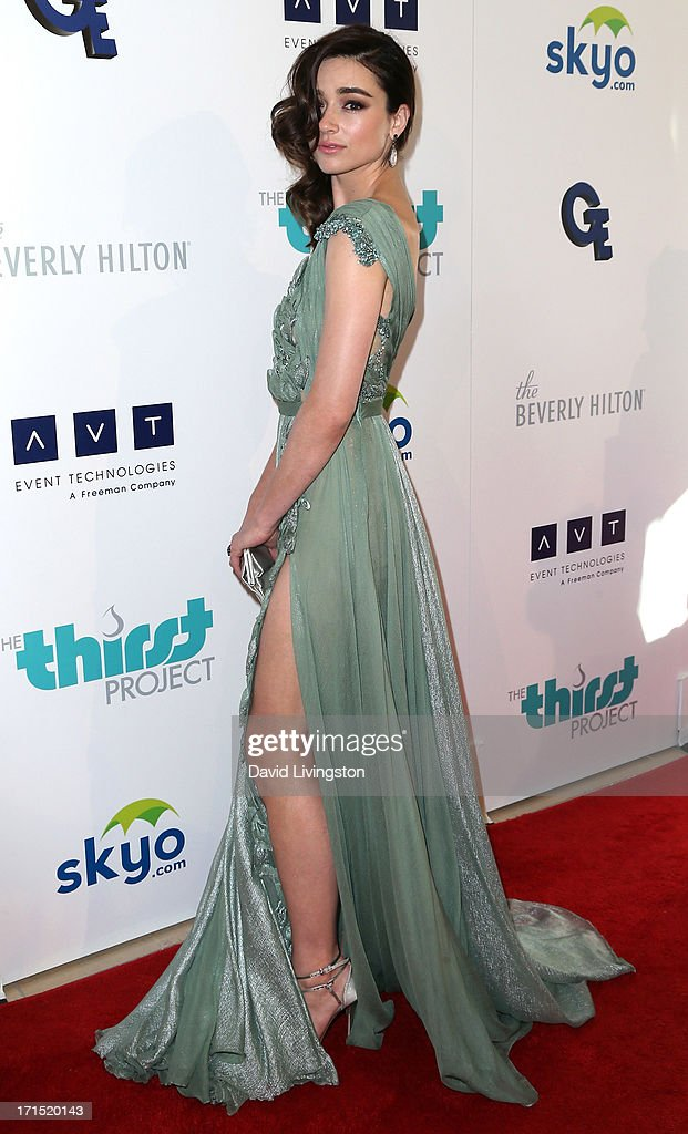 Actress <a gi-track='captionPersonalityLinkClicked' href=/galleries/search?phrase=Crystal+Reed&family=editorial&specificpeople=7115314 ng-click='$event.stopPropagation()'>Crystal Reed</a> attends the 4th Annual Thirst Gala at The Beverly Hilton Hotel on June 25, 2013 in Beverly Hills, California.
