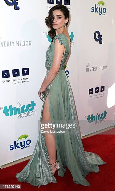 Actress Crystal Reed attends the 4th Annual Thirst Gala at The Beverly Hilton Hotel on June 25 2013 in Beverly Hills California