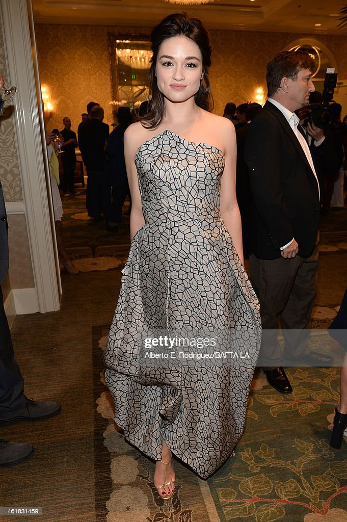 Actress <a gi-track='captionPersonalityLinkClicked' href=/galleries/search?phrase=Crystal+Reed&family=editorial&specificpeople=7115314 ng-click='$event.stopPropagation()'>Crystal Reed</a> attends the BAFTA LA 2014 Awards Season Tea Party at the Four Seasons Hotel Los Angeles at Beverly Hills on January 11, 2014 in Beverly Hills, California.