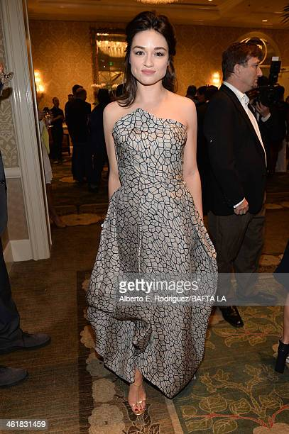Actress Crystal Reed attends the BAFTA LA 2014 Awards Season Tea Party at the Four Seasons Hotel Los Angeles at Beverly Hills on January 11 2014 in...