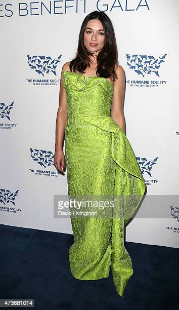 Actress Crystal Reed attends the Humane Society of the United States' Los Angeles Benefit gala at the Regent Beverly Wilshire Hotel on May 16 2015 in...